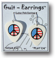 Peace Symbol Guit-Earrings