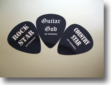 Rock Star, Guitar God, and Country Star Giant Guitar Picks
